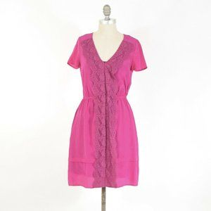 Marc by Marc Jacobs Hot Pink Silk Lace Dress